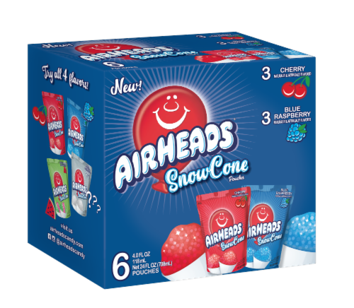 Airheads SnowCone Pouches 6 Count Perspective: front