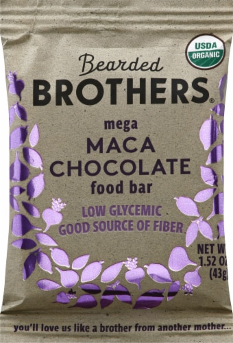 Bearded Brothers Mega Maca Chocolate Energy Bar Perspective: front