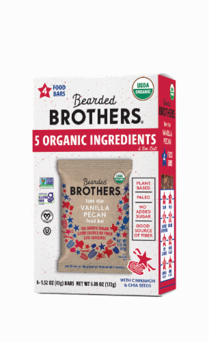 Bearded Brothers Vanilla Pecan Organic Food Bars Perspective: front