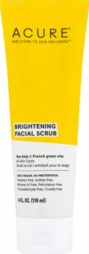 Acure Brightening Facial Scrub Perspective: front