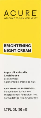 Acure Brightening Night Cream Perspective: front