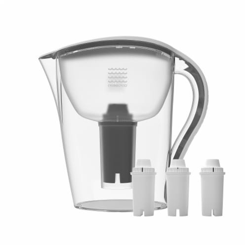 Drinkpod Ultra Premium Alkaline Water Pitcher 3.5L Capacity Includes 3 Filters Perspective: front
