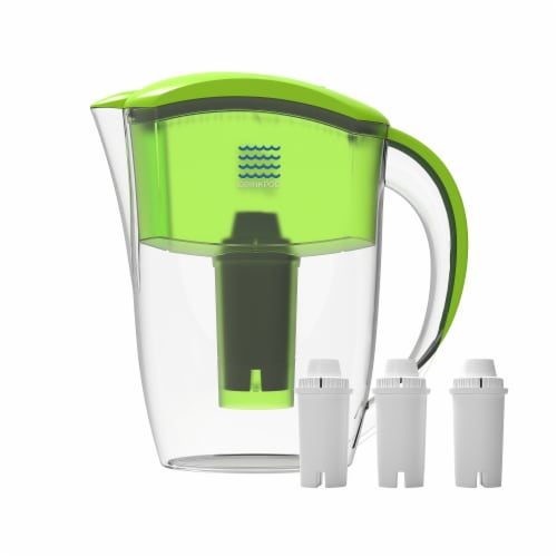 Drinkpod  Alkaline Water Pitcher 2.5L Capacity Includes 3 Filters Perspective: front