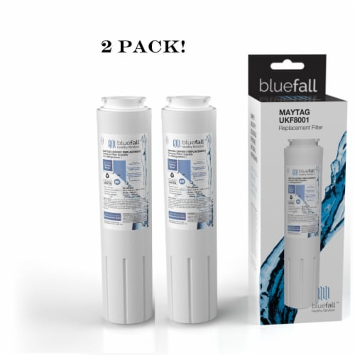 Maytag UKF8001 2PK Refrigerator Water Filter Compatible by BlueFall Perspective: front