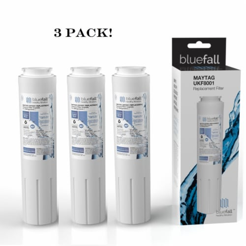 Maytag UKF8001 3PK Refrigerator Water Filter Compatible by BlueFall Perspective: front