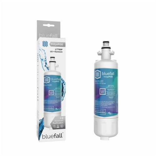 LG LT700P 10PK Refrigerator Water Filter Compatible by BlueFall Perspective: front
