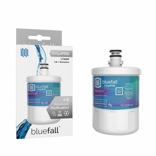 LG LT500P 8PK Refrigerator Water Filter Compatible by BlueFall Perspective: front