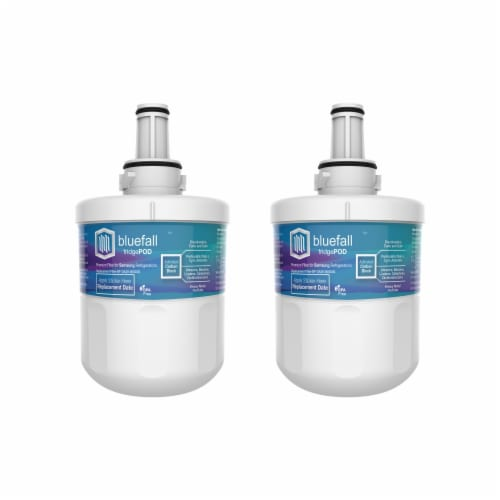 Samsung DA29-00003G 2PK Refrigerator Water Filter Compatible by BlueFall Perspective: front
