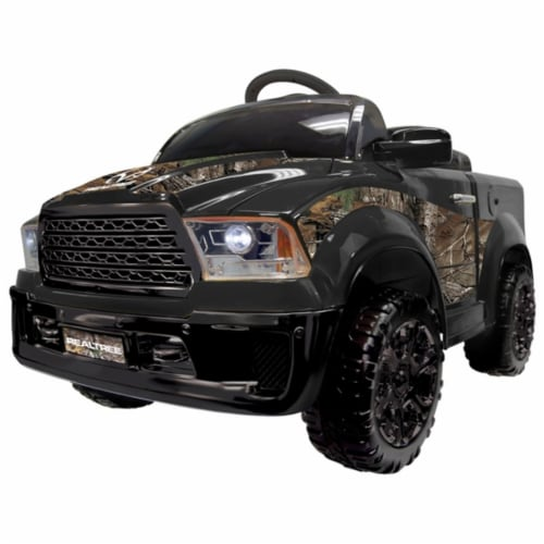 Best Ride On Cars Realtree 12v Truck, Black Perspective: front