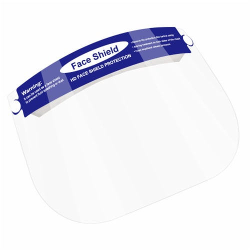 Parasol Kids Blue Face Shields with Elastic Foam Band Perspective: front