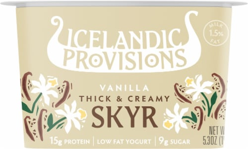 Icelandic Provisions Traditional Vanilla Skyr Perspective: front