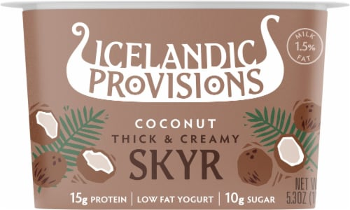 Icelandic Provisions Traditional Coconut Skyr Perspective: front