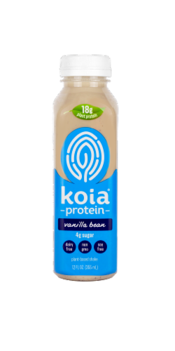 Koia Plant Based Vanilla Bean Protein Drink Perspective: front