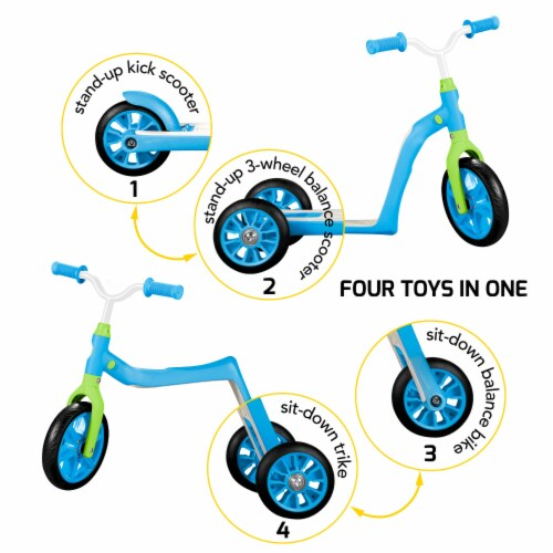 Swagtron Toddler Scooter - Blue Perspective: front