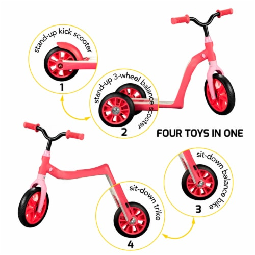 Swagtron Toddler Scooter - Red Perspective: front