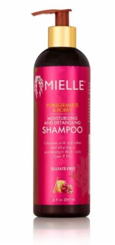 Mielle Organics Pomegrante & Honey Moisturizing and Detangling Shampoo Perspective: front