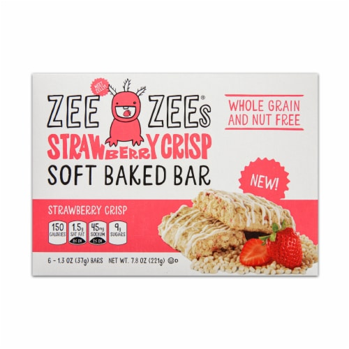 Zee Zee's Strawberry Crisp Soft Baked Cereal Bar Perspective: front