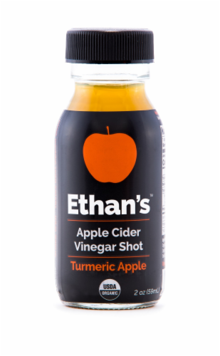 Ethan's Turmeric Apple Apple Cider Vinegar Shot Perspective: front