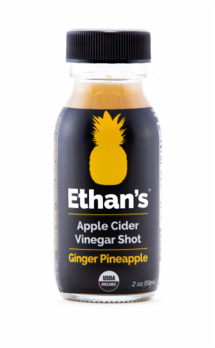 Ethan's Ginger Pineapple Apple Cider Vinegar Shot Perspective: front