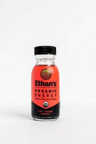 Ethan's Organic Ginger Tart Cherry Energy Shot Perspective: front