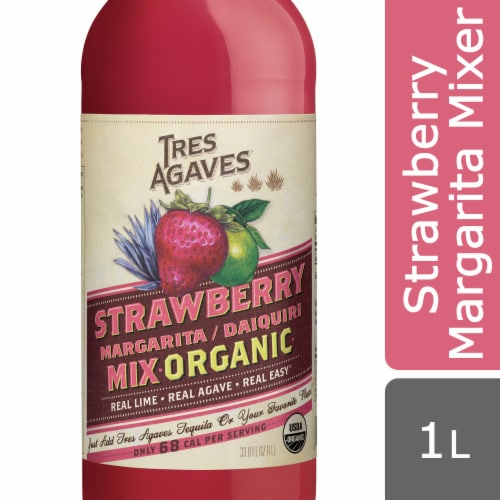 Tres Agaves® Organic Strawberry Margarita Mix Perspective: front