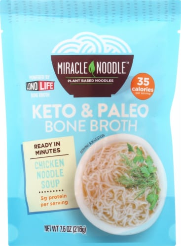 Miracle Noodle Bone Broth Chicken Noodle Soup Perspective: front