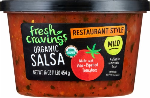 Fresh Cravings Organic Mild Crave Restaurant Style Salsa Perspective: front