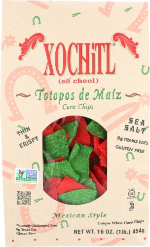 Xochitl Mexican Style Christmas Tortilla Chips Perspective: front