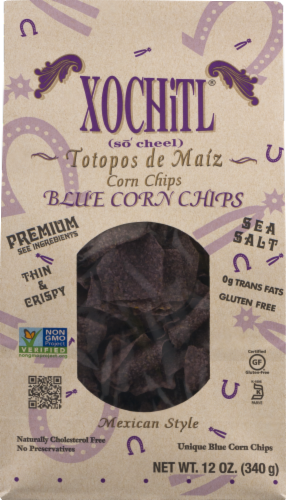 Xochitl Blue Corn Tortilla Chips Perspective: front