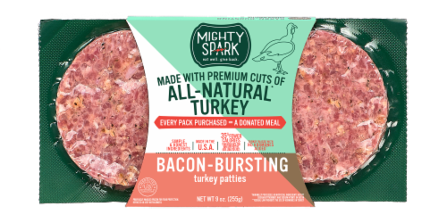 Mighty Spark Bacon Bursting Turkey Patties Perspective: front