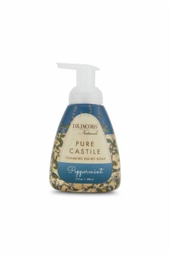 DR. JACOBS NATURALS 10 FL OZ. CASTILE HAND SOAP - PEPPERMINT Perspective: front