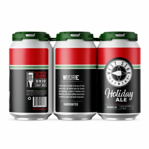 West Side Brewing Holiday Ale Perspective: front