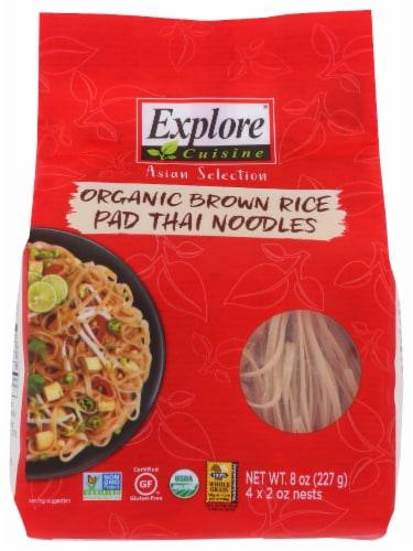 Explore Cuisine Organic Brown Rice Pad Thai Noodles Perspective: front