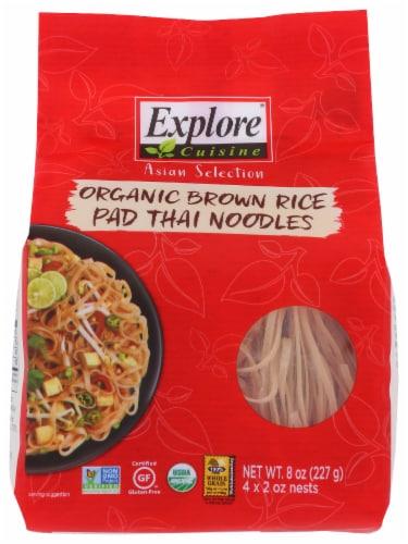 Explore Cuisine Organic Brown Rice Pad Thai Noodles Perspective: front