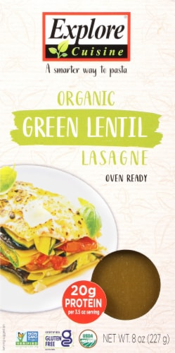 Explore Cuisine Organic Green Lentil Lasagne Perspective: front