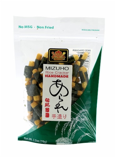 Mizuho Hand Made Rice Crackers Perspective: front