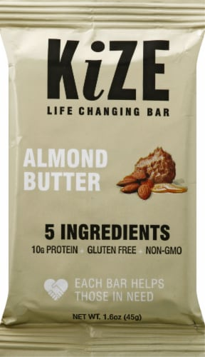 KiZE Almond Butter Bar Perspective: front