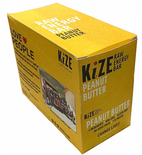 Kize  Raw Energy Bar 11G Protein Gluten Free   Peanut Butter Perspective: front