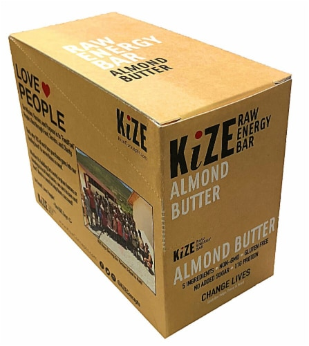 Kize Almond Butter Raw Energy Bar Perspective: front
