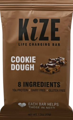 KiZE Cookie Dough Bar Perspective: front