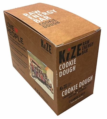 Kize Cookie Dough Raw Energy Bar Perspective: front