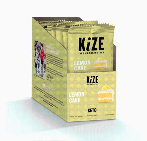 KiZE Life Changing Bar Lemon Cake Perspective: front