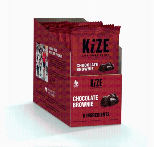 KiZE Life Changing Bar Chocolate Brownie Perspective: front