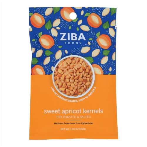 Ziba Foods - Kernals Apricot Roasted Salted - Case of 24-1.06 OZ Perspective: front