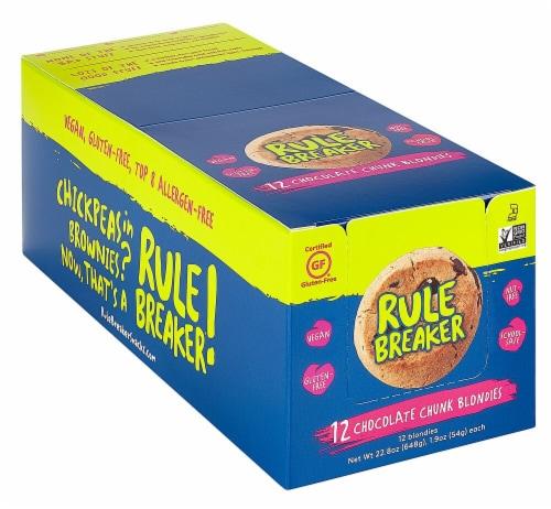 Rule Breaker Chocolate Chunk Blondie Brownie Snacks Perspective: front