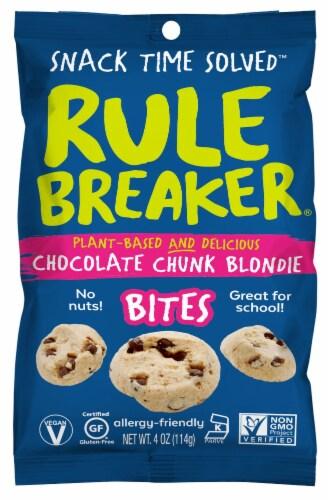 Rule Breaker Chocolate Chunk Blondie Bites Perspective: front