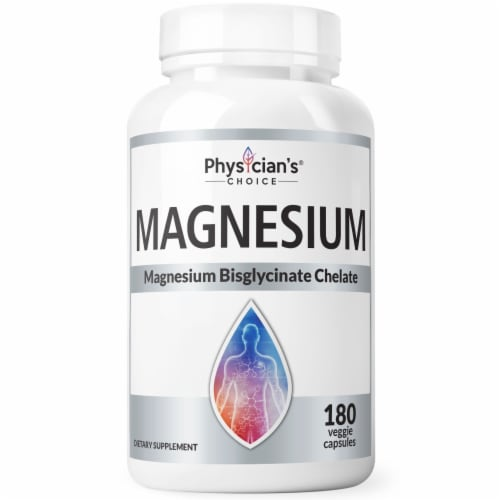 Physician's Choice Magnesium Bisglycinate Chelate Dietary Supplement Perspective: front