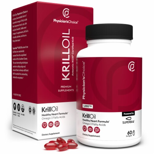Physician's Choice Krill Oil Dietary Supplement Perspective: front