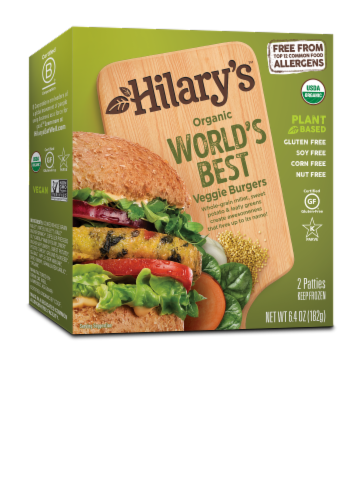 Hilary's Eat Well Veggie Burger Perspective: front