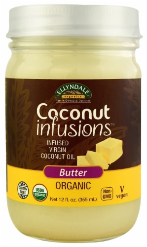 NOW  Ellyndale Organics Coconut Infusions™   Butter Perspective: front